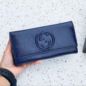 Authentic Gucci Soho Front GG Leather LG Wallet